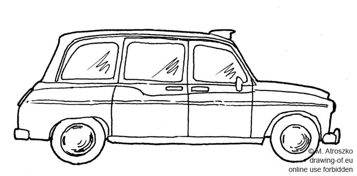 Londres taxi dibujo