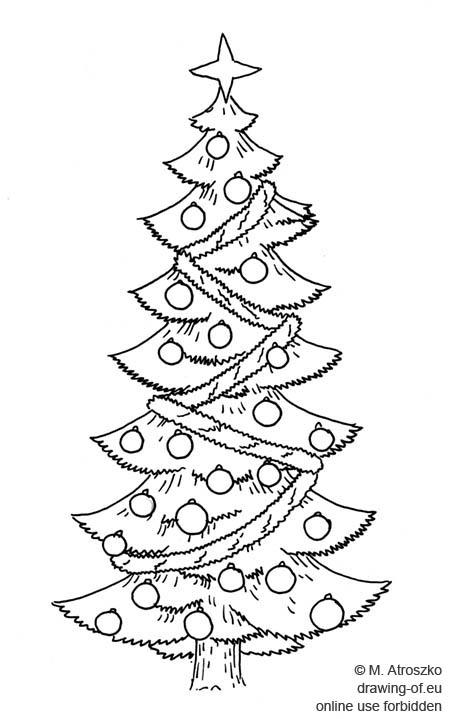 dibujo de arbol de navidad