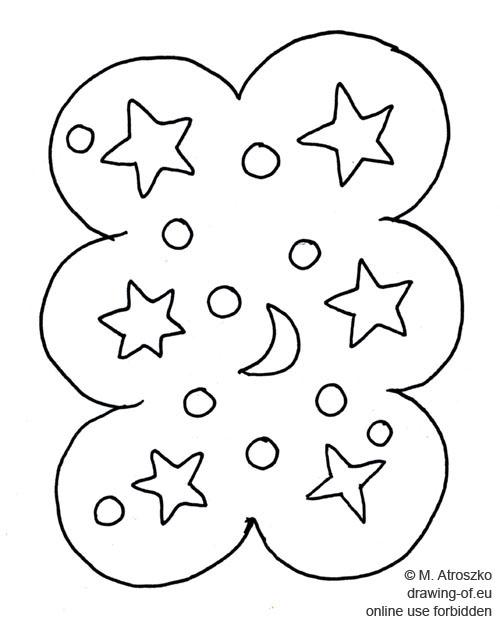 dibujo del pan de jengibre