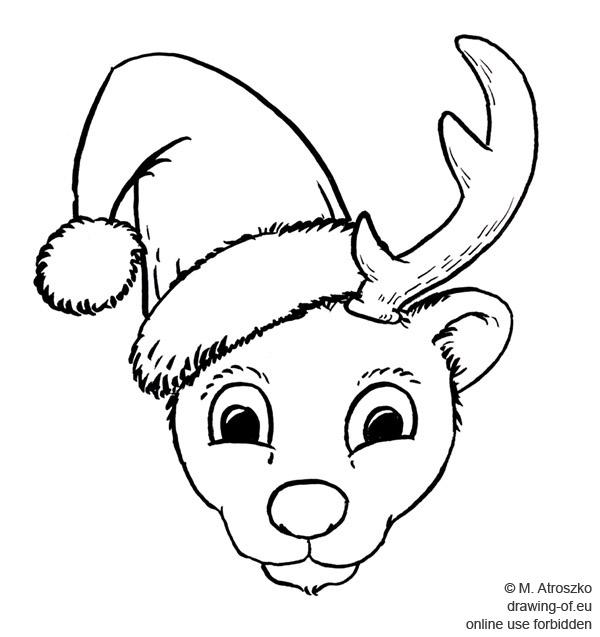Reno navideno dibujo