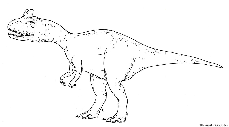 Allosaurus dibujo