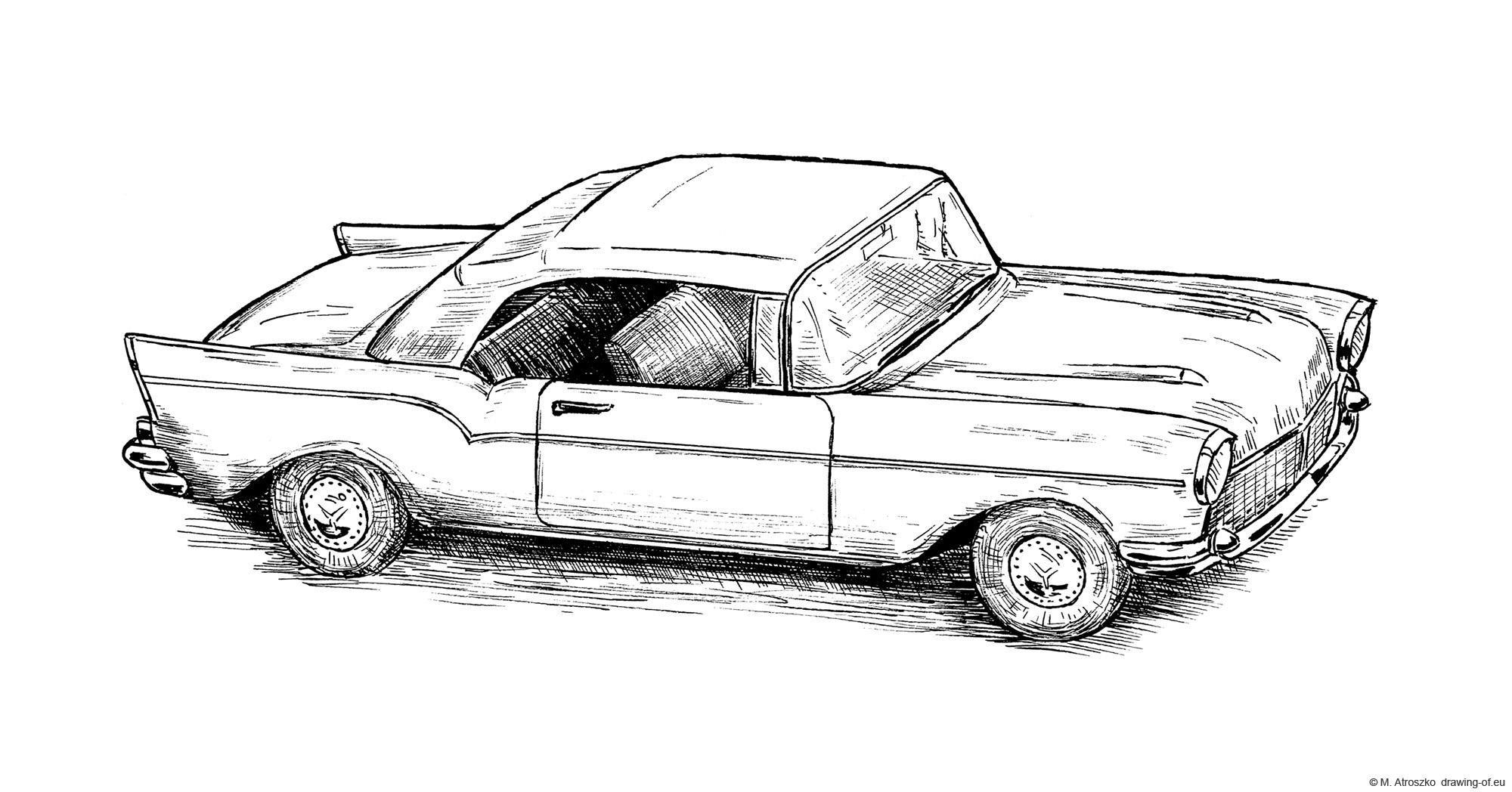 Chevrolet viejo dibujo