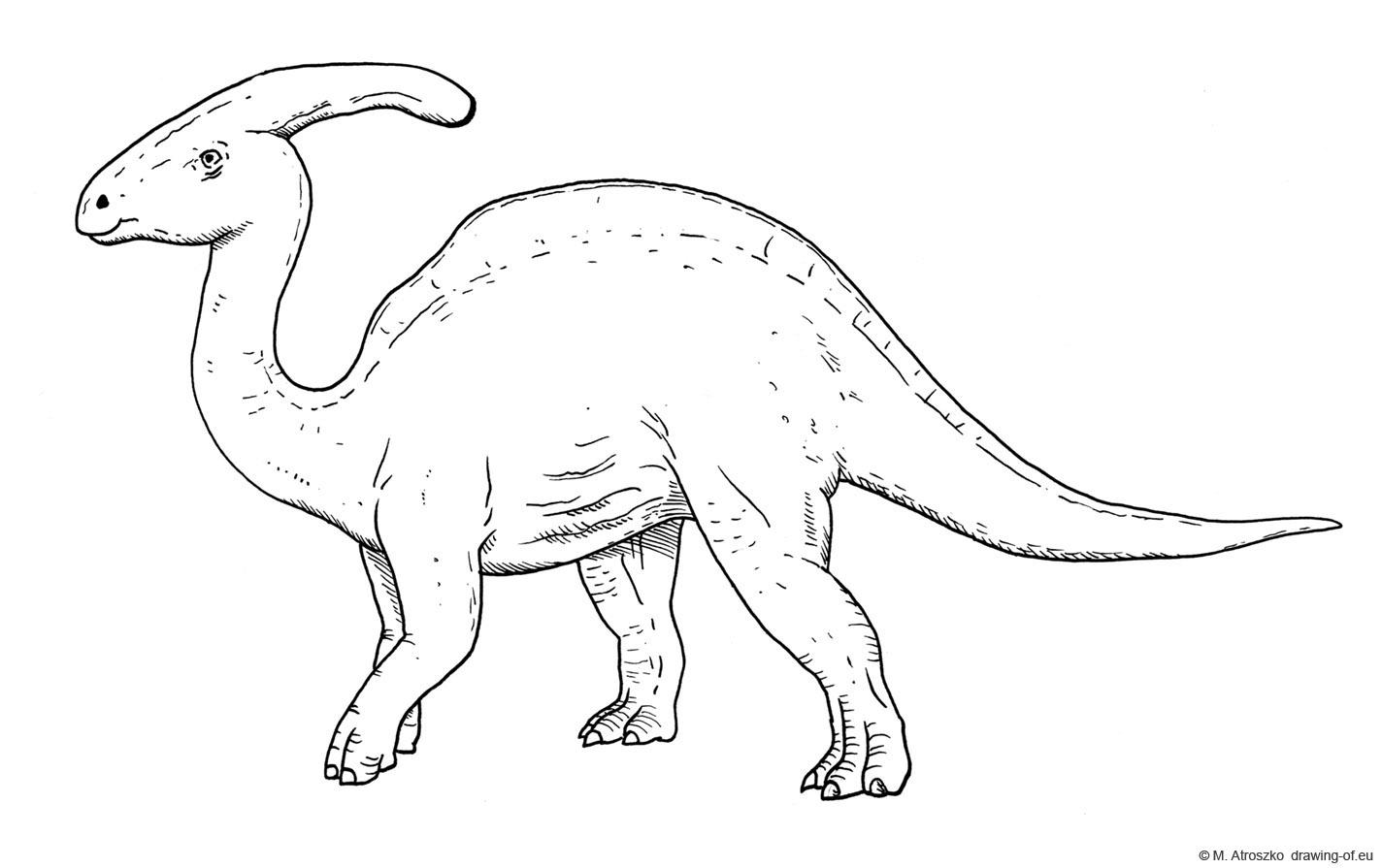 Parasaurolophus dibujo
