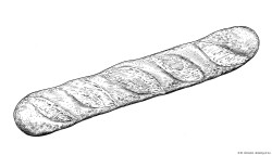 Dibujo de baguette