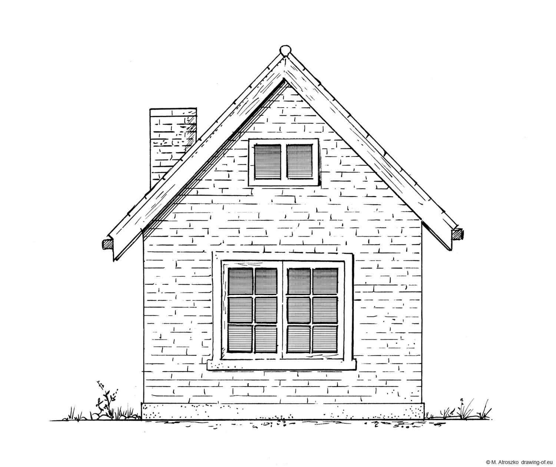 Dibujo de casa pequeña