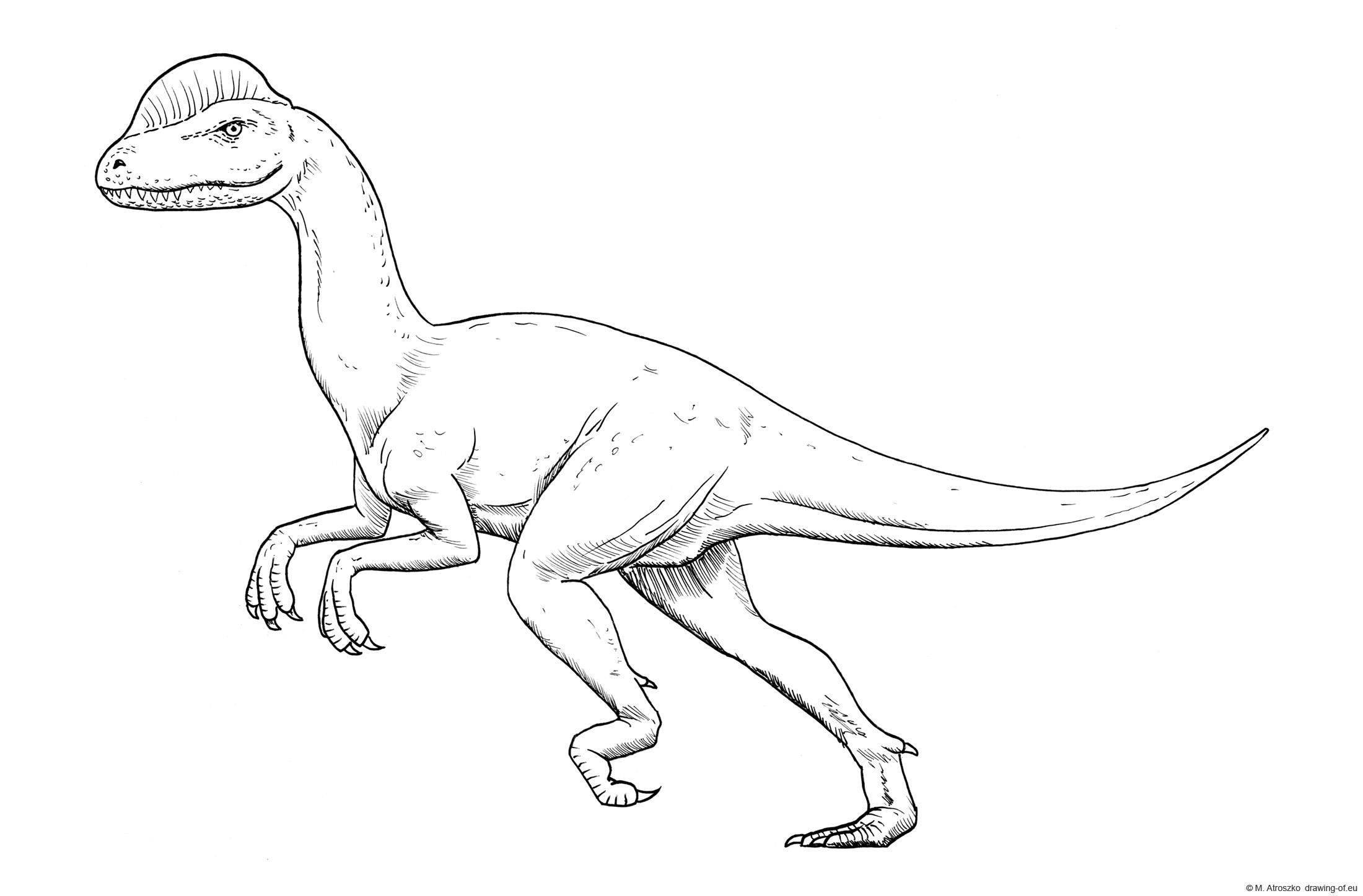 Dibujo de dilofosaurus