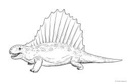 Dibujo de dimetrodon