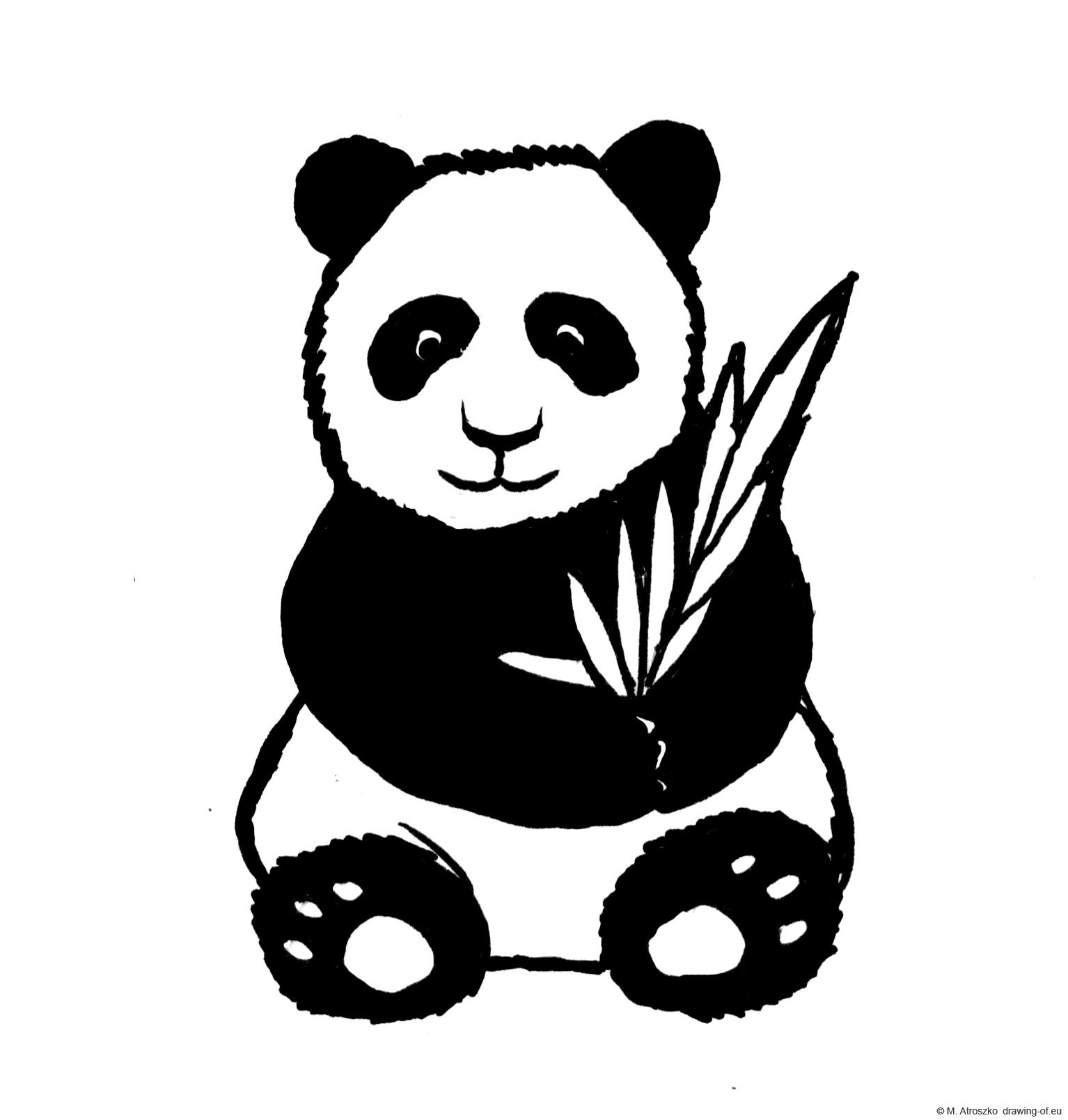 dibujo de oso panda
